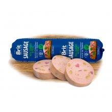 Brit Premium Sausage - колбаса Брит кусочки индейки и горох в паштете для собак