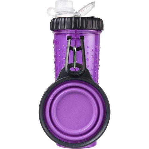 Dexas - бутылка двойная для воды и корма Дексас со складной миской