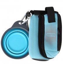 Dexas BottlePocket - миска складная Дексас с сумкой для аксессуаров