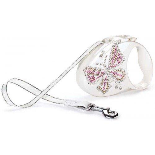 Flexi Glam Butterfly Medium - поводок-рулетка Флекси для собак весом до 25 кг