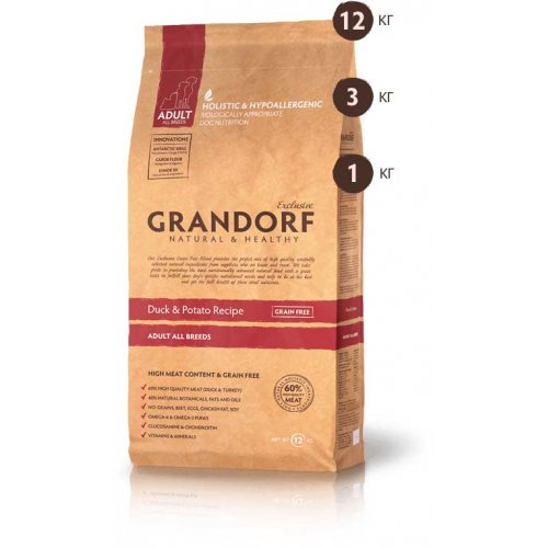 Grandorf Duck and Potato - корм Грандорф с уткой и бататом для собак