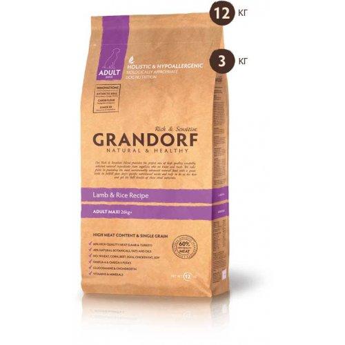 Grandorf Adult Large Breed - корм Грандорф с ягненком и рисом для собак крупных пород
