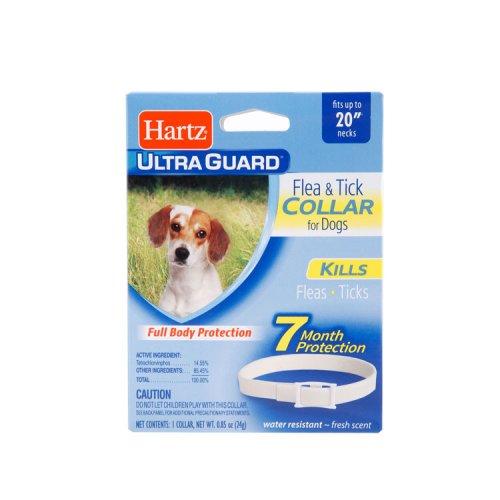 Hartz Ultra Guard - ошейник Хартц белый от блох и клещей для собак, 50 см