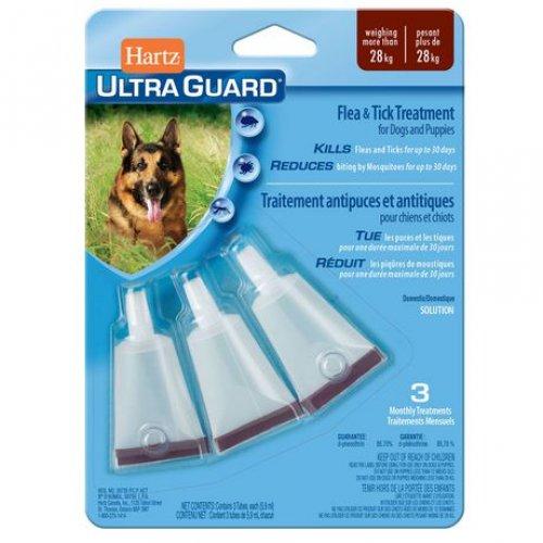 Hartz Ultra Guard - капли от блох, клещей и комаров Хартц для собак весом более 28 кг