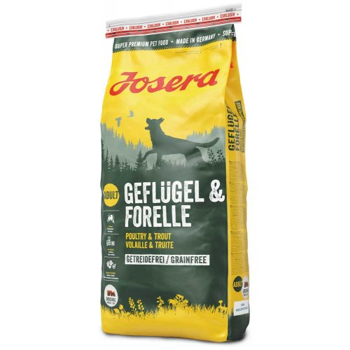 Josera Geflugel and Forelle - беззерновой корм Йозера с птицей и форелью для собак