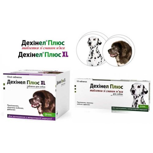 KRKA Dechinel Plus - антигельминтик КРКА Дехинел для собак