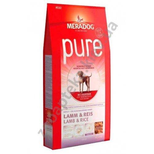 Meradog Pure Adult - корм МераДог с ягненком и рисом для собак