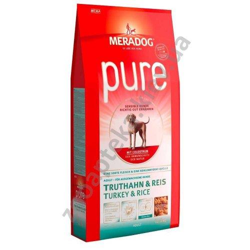 Meradog Pure Adult - корм МераДог с индейкой и рисом для собак