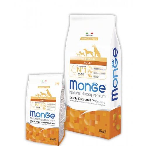 Monge Adult Duck & Rice - корм Монже с уткой для взрослых собак всех пород
