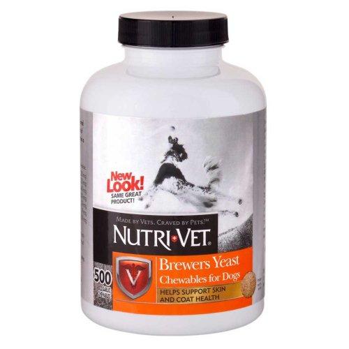 Nutri-Vet Brewers Yeast - Нутри-Вет Бреверсы жевательные таблетки с чесноком для собак