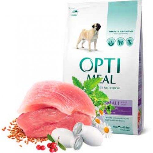 OptiMeal - корм ОптиМил с уткой для собак малых пород