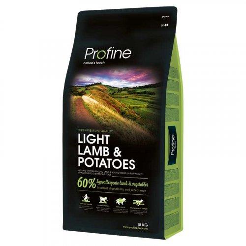 Profine Light - корм Профайн, с ягненком и картофелем для оптимизации веса