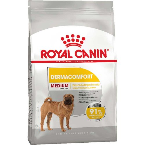 Royal Canin Medium Dermacomfort - корм Роял Канин для собак, склонных к кожным раздражениям и зуду