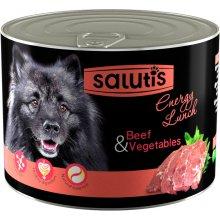 Salutis Energy Lunch - консервы Салютис Готовый обед с говядиной и овощным ассорти для собак
