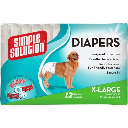 Simple Solution Disposable Diapers - подгузники Симпл Солюшн для собак