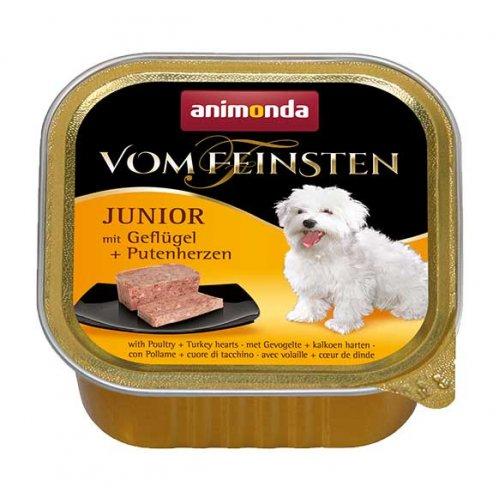 Animonda Vom FeInsten - консерви Анімонда з птицею і серцями індички для цуценят