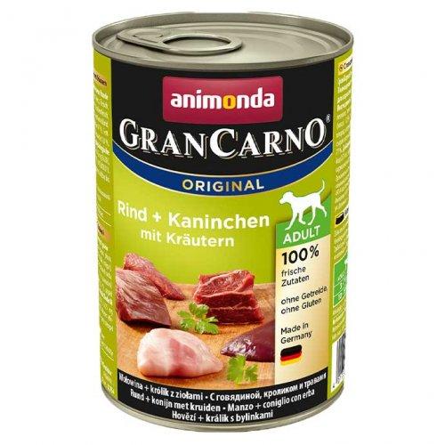 Animonda Gran Carno Adult - консервы Анимонда с говядиной, кроликом и травами для собак