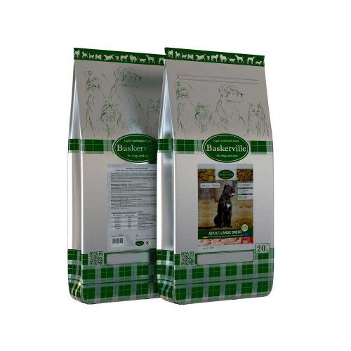 Baskerville Adult Large Breed - сухой корм Баскервиль для собак крупных пород