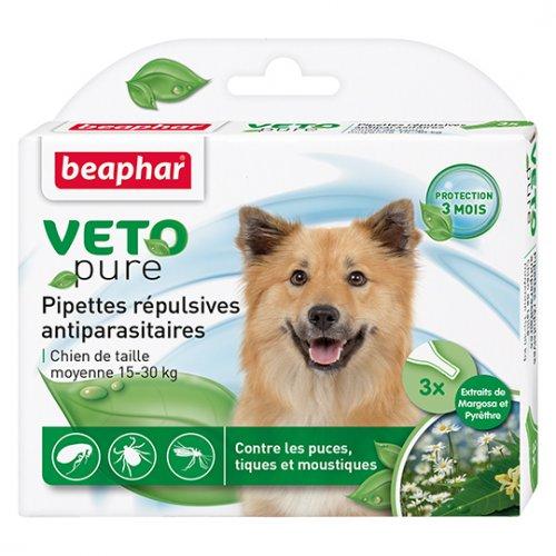 Beaphar Pipettes Repulsives Antiparasitaires Chien Moyen 15-30 kg - капли Бифар для средних собак
