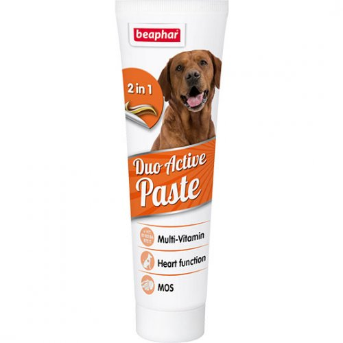 Beaphar Duo-Active Paste For Dogs - мультивитаминная паста двойного действия Бифар для собак