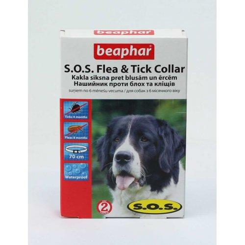 Beaphar SOS Flea & Tick Collar - ошейник Бифар СОС против блох и клещей
