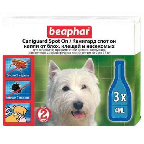 Beaphar Caniguard Spot On - капли противопаразитарные Бифар для щенков и собак средних пород