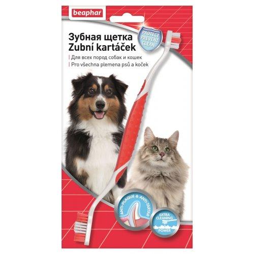 Beaphar Toothbrush - двойная зубная щетка Бифар для собак