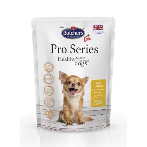 Butchers Dog Pro Series - консервы Батчерс кусочки с курицей в соусе для собак мелких пород