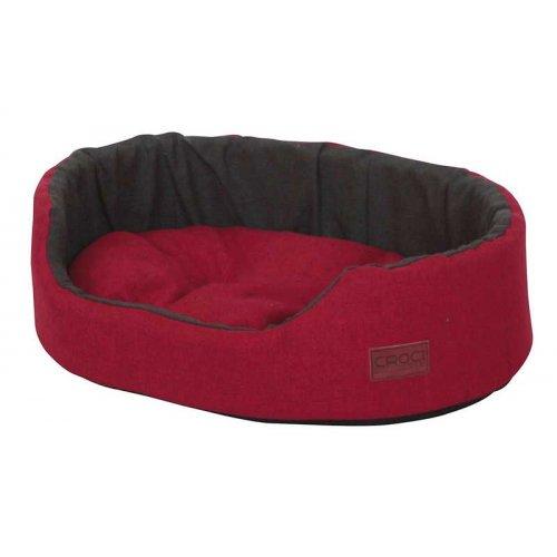Croci Rubby Red - овальная лежанка с бортиком Кроки