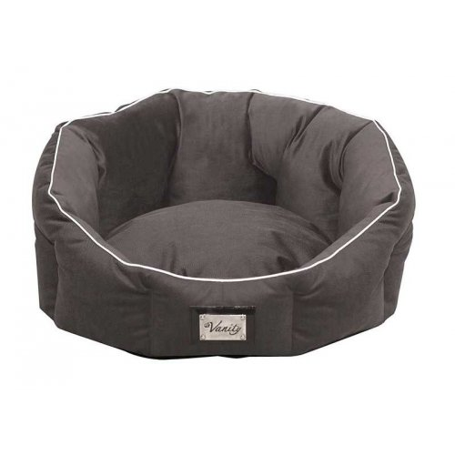Croci Vanity - круглый диван Кроки Королевскийф Вельвет, темно серого цвета