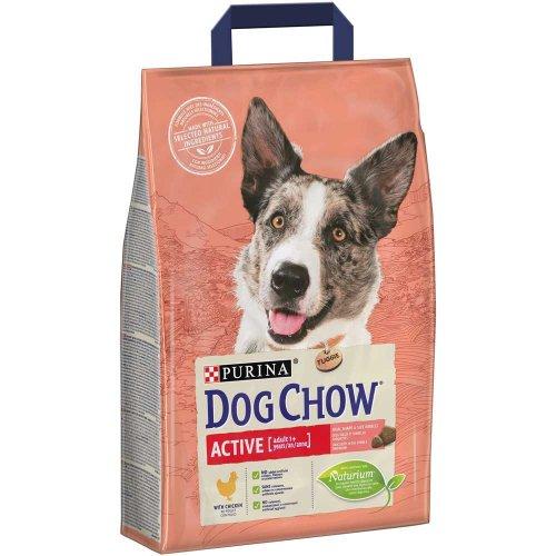 Dog Chow Adult Active - корм Дог Чау для взрослых активных собак с курицей