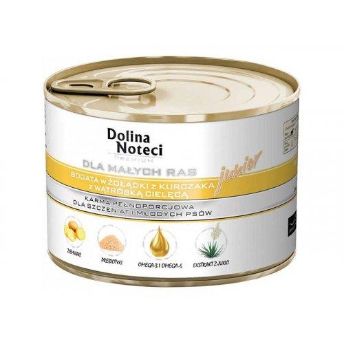 Dolina Noteci Premium - корм для щенков Долина Нотечи с куриным желудком и печенью теленка