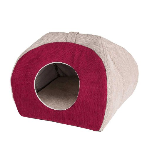 Ferplast Tulip Small House Fucsia - мягкий домик Ферпласт для кошек и собак