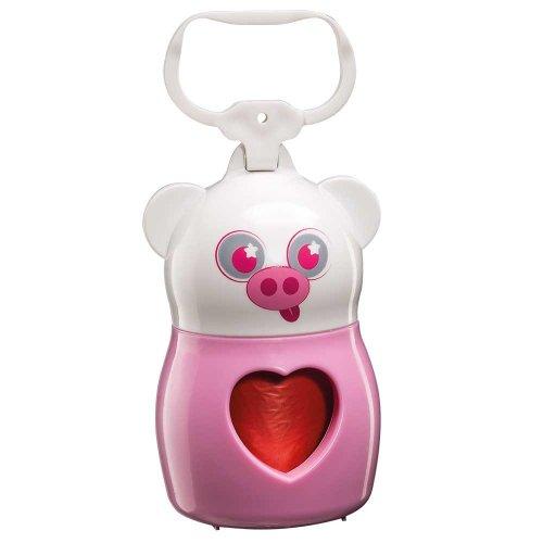 Ferplast Dudu Animals Pig - пластиковый контейнер Ферпласт Свинка с пакетами