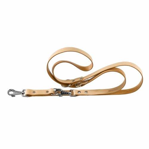 Ferplast Natural Ga - кожаный поводок-перестежка Ферпласт для собак