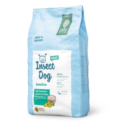 Green Petfood InsectDog Sensitive - корм Грин Петфуд с протеином насекомых и рисом для собак