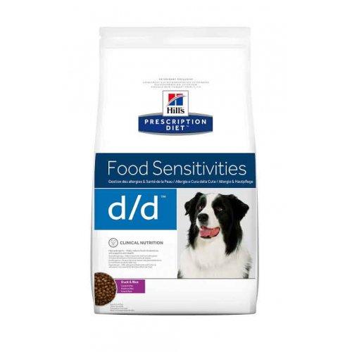 Hills PD Canine d/d - диетический корм Хиллс при пищевых аллергиях у собак с уткой и рисом