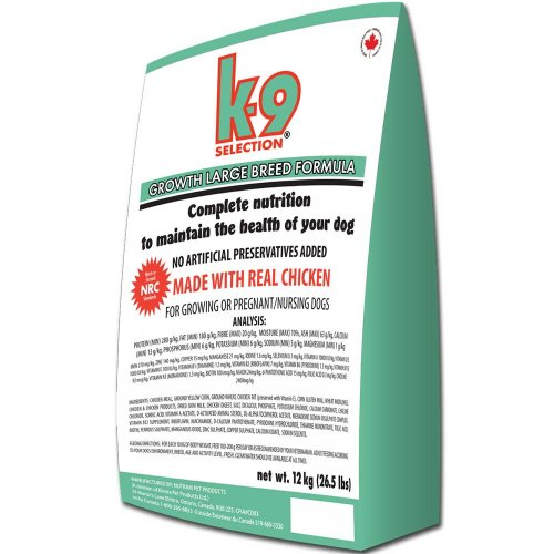 K9 Selection Growth Large Breed Formula - профессиональный корм К9 для щенков крупных пород