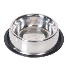 Karlie-Flamingo Dish Steel Rubber Rim - миска с резиновым ободком Карли-Фламинго для собак