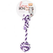 Karlie-Flamingo Cotton Rope Knot - веревочный мяч Карли-Фламинго с канатом и одним узлом для собак