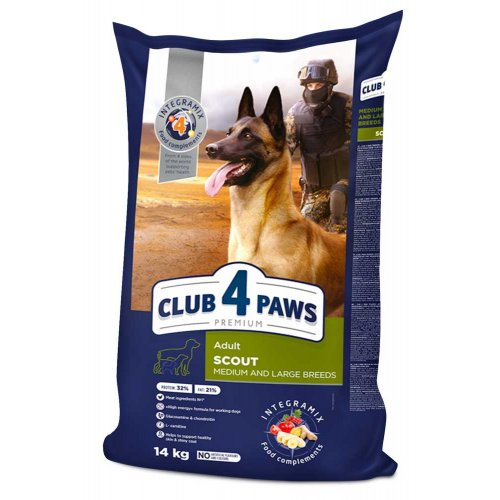 C4P Premium Scout - корм Клуб 4 Лапы Скаут для собак с повышенной физической активностью
