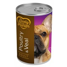 Lovely Hunter - консервы Лавли Хантер с мясом домашней птицы и телятиной для собак