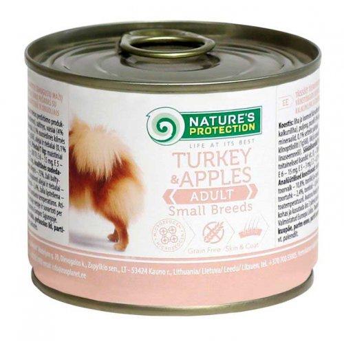 Natures Protection Turkey & Apples Small Breed - консервы Нейчерс Протекшн с индейкой и яблоками для