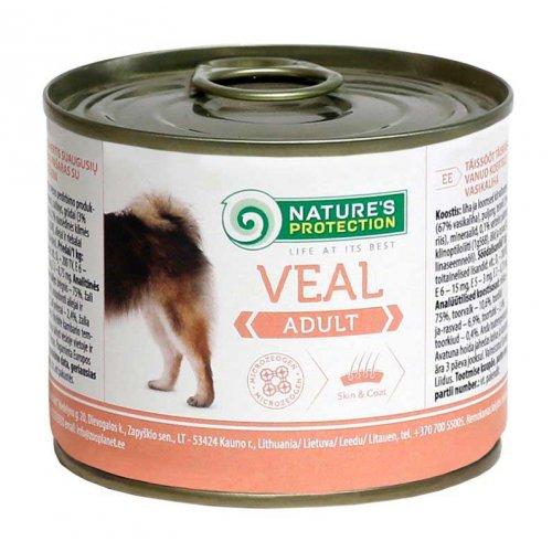 Natures Protection Adult Veal - консервы Нейчерс Протекшн для привередливых собак