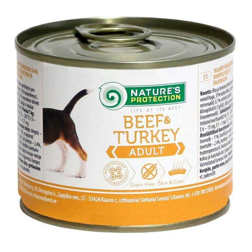 Natures Protection Beef & Turkey - консервы Нейчерс Протекшн c телятиной и индюшатиной