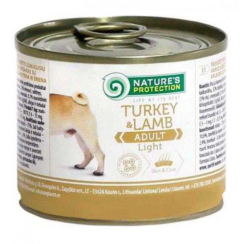 Natures Protection Light Turkey & Lamb - консервы Нейчерс Протекшн с индюшатиной и ягненком
