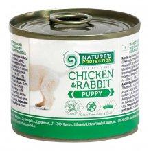 Natures Protection Puppy Chicken & Rabbit - консервы Нейчерс Протекшн для щенков