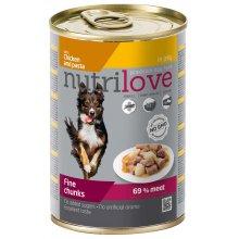 Nutrilove Chicken and Pasta - консервы Нутрилав Курица с макаронами в желе для собак