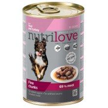 Nutrilove Veal and Turkey - консервы Нутрилав Телятина с индейкой в соусе для собак