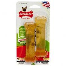 Nylabone Flexi Chew Twin - игрушка жевательная Нилабон для маленьких собак с умеренным стилем грызен